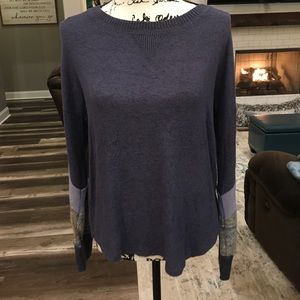 Hippie Rose Blue Combo Long Sleeved Sweater